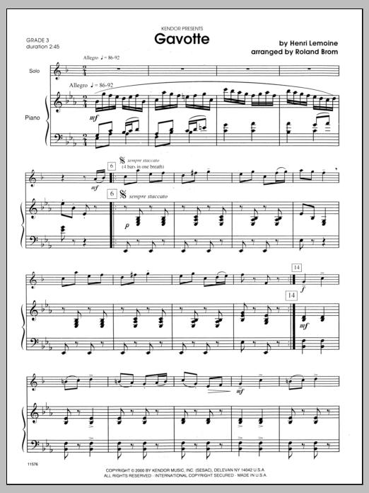 Gavotte - Piano Sheet Music