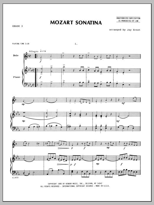 Mozart Sonatina - Piano Sheet Music