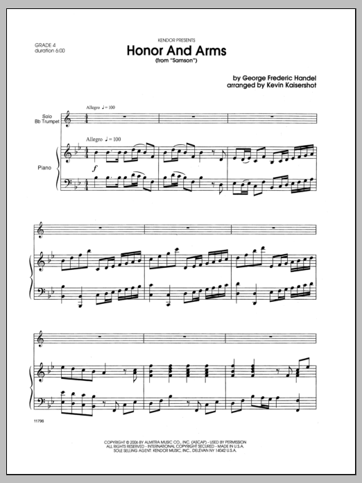 Honor And Arms (from Samson) - Piano Sheet Music