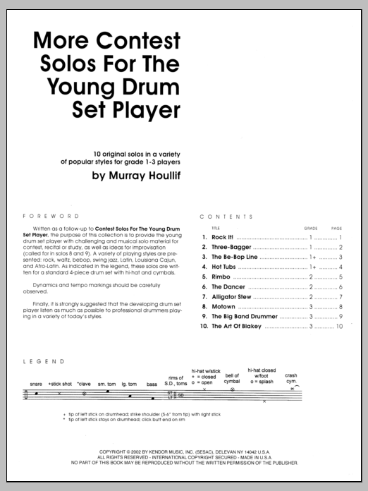 More Contest Solos For The Young Drum Set Player Sheet Music