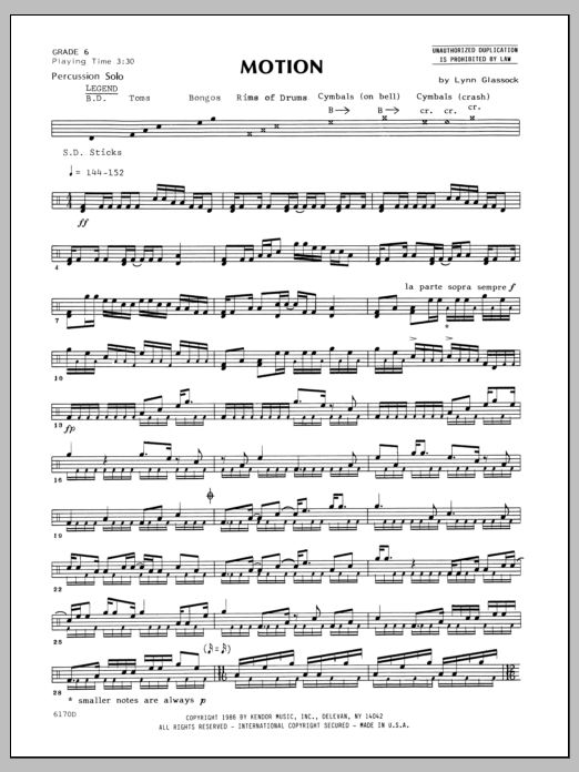 Motion Sheet Music