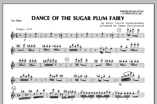 Dance Of The Sugar Plum Fairy - Flute 1 Sheet Music