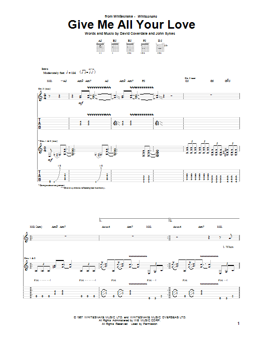 Give Me All Your Love Sheet Music