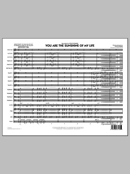 You Are the Sunshine of My Life (Key: C) - Conductor Score (Full Score) (Jazz Ensemble)