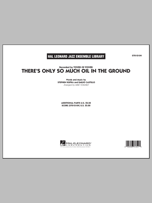 There's Only So Much Oil in the Ground - Conductor Score (Full Score) (Jazz Ensemble)