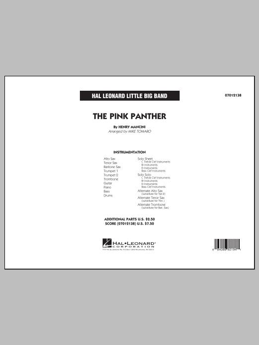 The Pink Panther - Full Score (Jazz Ensemble)