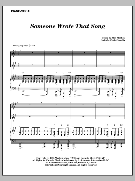 Someone Wrote That Song Sheet Music
