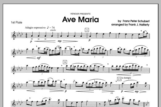 Ave Maria - Flute 1 Sheet Music