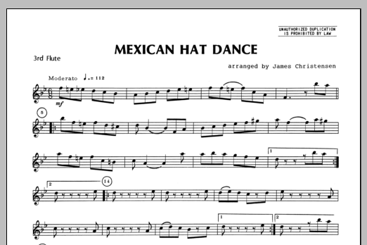 Mexican Hat Dance - Flute 3 Sheet Music