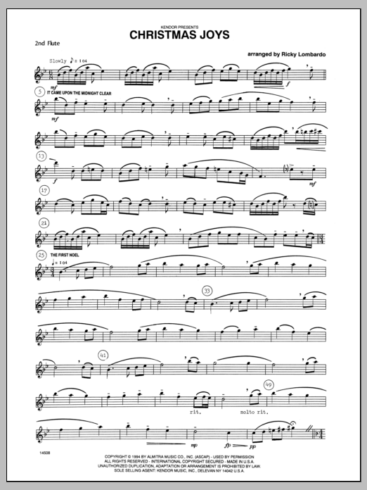 Christmas Joys - Flute 2 Sheet Music
