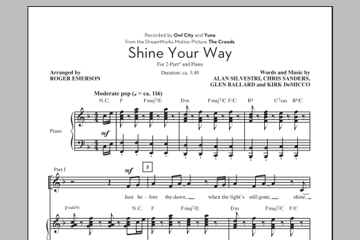 Shine Your Way Sheet Music