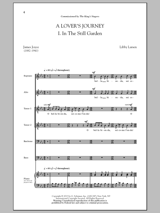 Partition chorale A Lover's Journey de Dale Warland - SATB