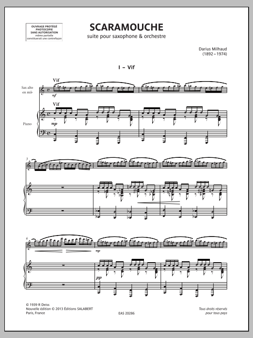 Scaramouche - Piano Accompaniment Sheet Music