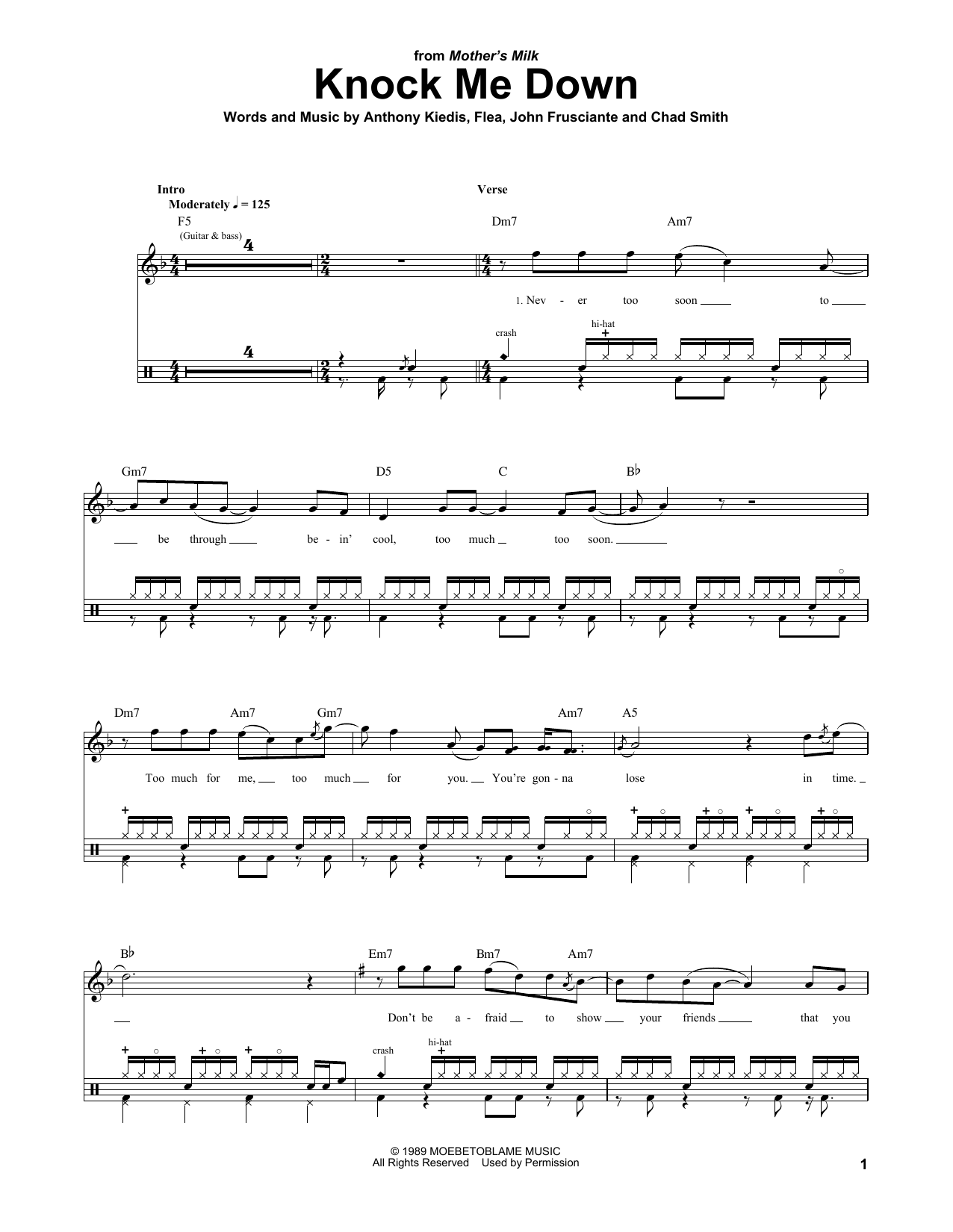 Knock Me Down Sheet Music