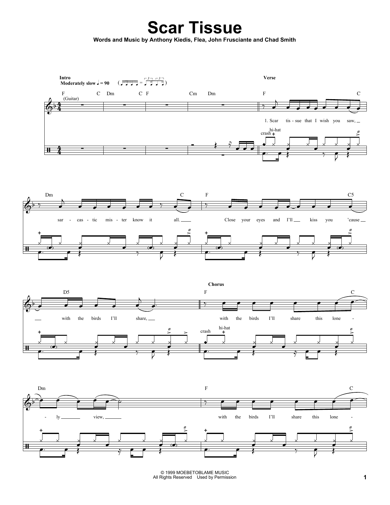 Scar Tissue Sheet Music