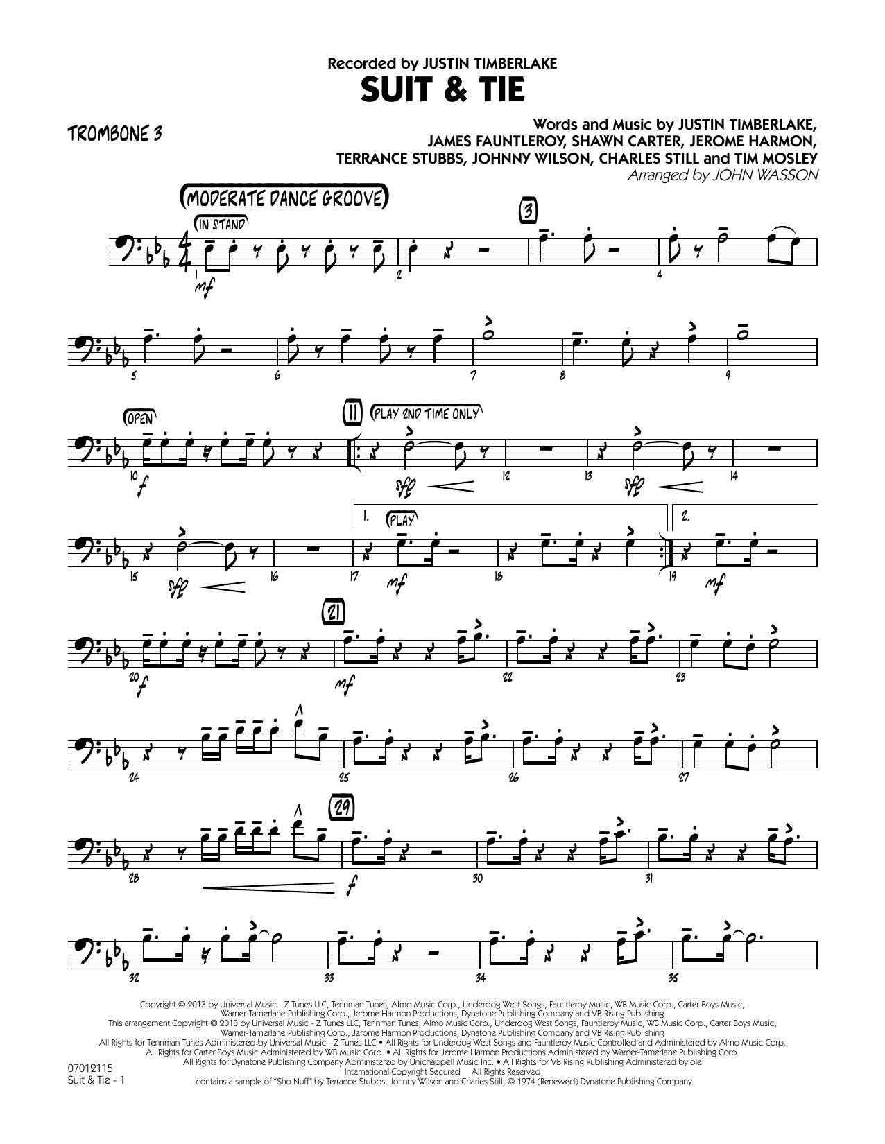 Suit & Tie - Trombone 3 (Jazz Ensemble)