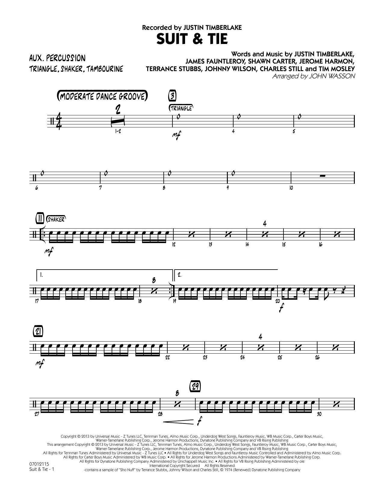 Suit & Tie - Aux Percussion (Jazz Ensemble)