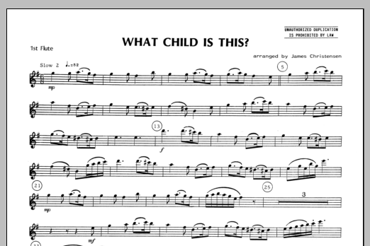 What Child Is This? - Flute 1 Sheet Music