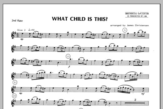 What Child Is This? - Flute 2 Sheet Music