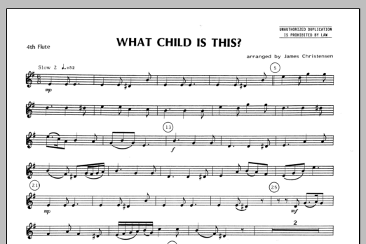 What Child Is This? - Flute 4 Sheet Music
