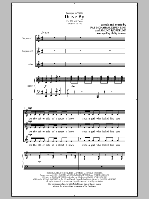 Drive By (arr. Philip Lawson) Sheet Music