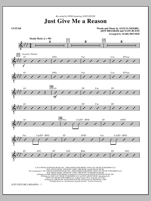Just Give Me a Reason - Guitar | Sheet Music Direct