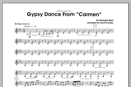 """Gypsy Dance From """"Carmen"""" - Bass Clarinet Sheet Music"""