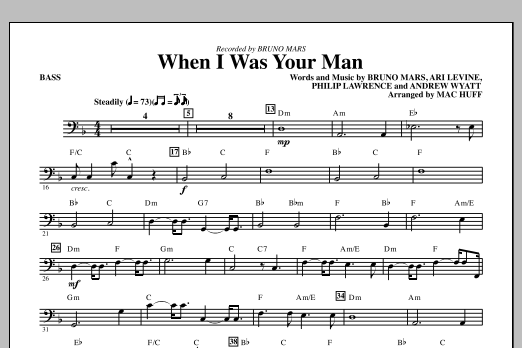 When I Was Your Man - Bass | Sheet Music Direct