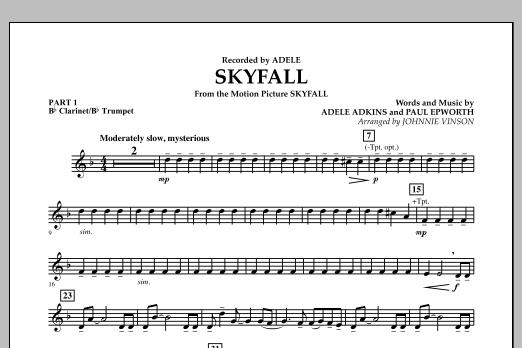 Skyfall - Pt.1 - Bb Clarinet/Bb Trumpet (Concert Band: Flex-Band)