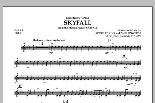 Skyfall - Pt.1 - Violin (Concert Band: Flex-Band)