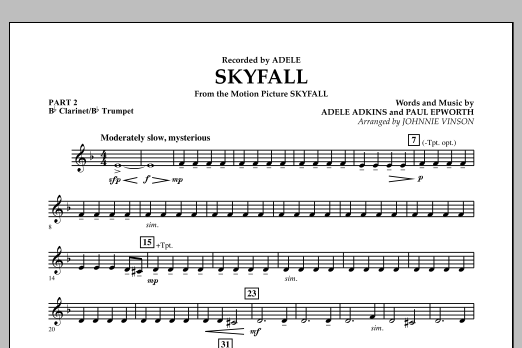 Skyfall - Pt.2 - Bb Clarinet/Bb Trumpet (Concert Band: Flex-Band)