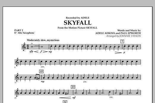Skyfall - Pt.2 - Eb Alto Saxophone (Concert Band: Flex-Band)
