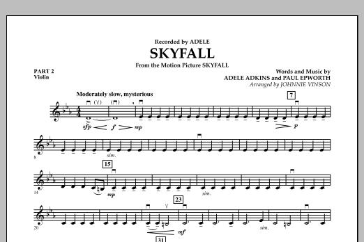 Skyfall - Pt.2 - Violin (Concert Band: Flex-Band)