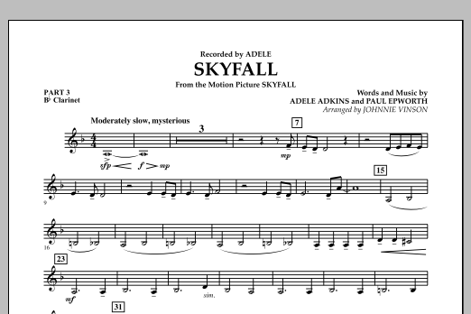 Skyfall - Pt.3 - Bb Clarinet (Concert Band: Flex-Band)