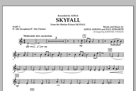 Skyfall - Pt.3 - Eb Alto Sax/Alto Clar. (Concert Band: Flex-Band)