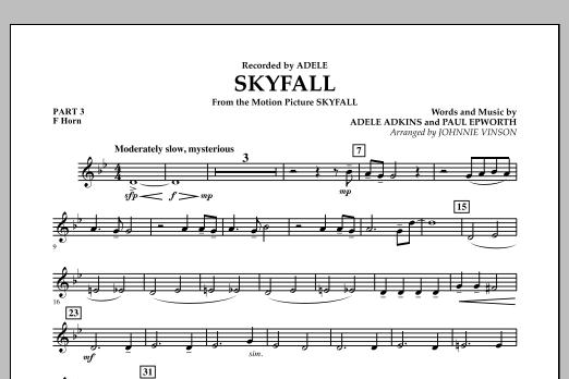 Skyfall - Pt.3 - F Horn (Concert Band: Flex-Band)