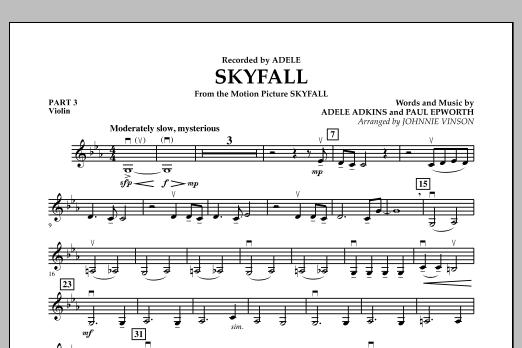 Skyfall - Pt.3 - Violin (Concert Band: Flex-Band)