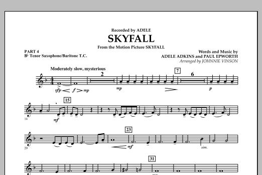 Skyfall - Pt.4 - Bb Tenor Sax/Bar. T.C. (Concert Band: Flex-Band)
