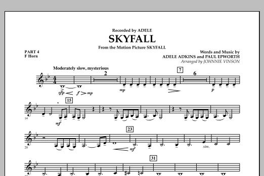 Skyfall - Pt.4 - F Horn (Concert Band: Flex-Band)