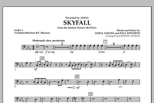 Skyfall - Pt.4 - Trombone/Bar. B.C./Bsn. (Concert Band: Flex-Band)