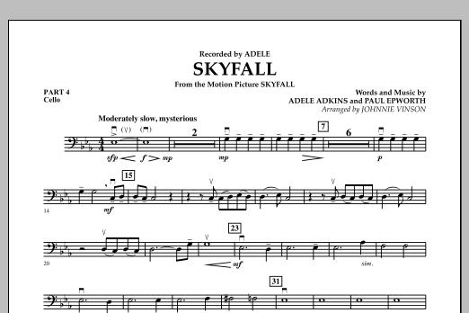 Skyfall - Pt.4 - Cello (Concert Band: Flex-Band)