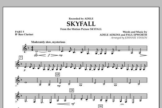Skyfall - Pt.5 - Bb Bass Clarinet (Concert Band: Flex-Band)