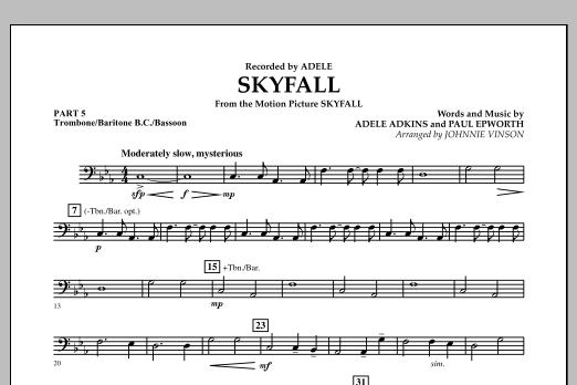 Skyfall - Pt.5 - Trombone/Bar. B.C./Bsn. (Concert Band: Flex-Band)
