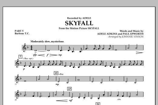 Skyfall - Pt.5 - Baritone T.C. (Concert Band: Flex-Band)