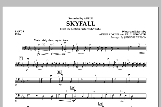 Skyfall - Pt.5 - Cello (Concert Band: Flex-Band)