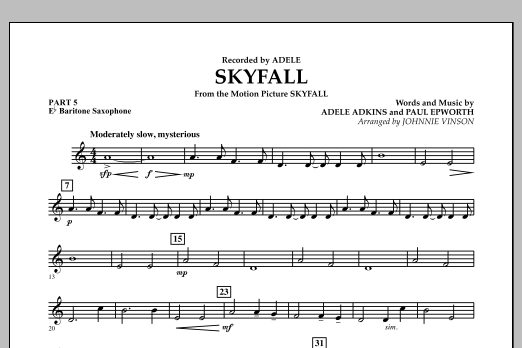 Skyfall - Pt.5 - Eb Baritone Saxophone (Concert Band: Flex-Band)