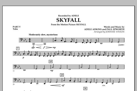 Skyfall - Pt.5 - Tuba (Concert Band: Flex-Band)