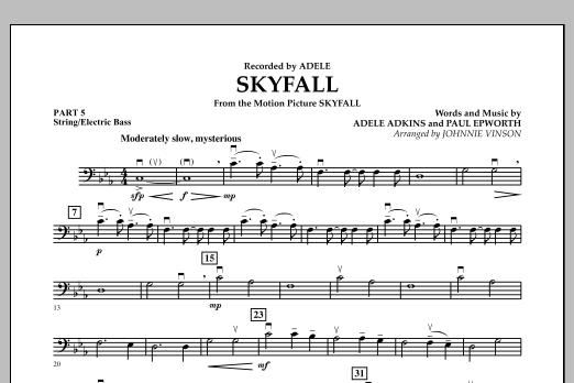 Skyfall - Pt.5 - String/Electric Bass (Concert Band: Flex-Band)