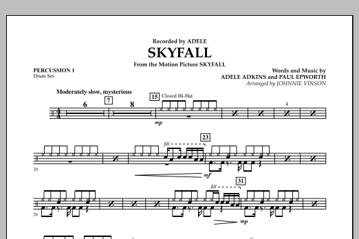 Skyfall - Percussion 1 (Concert Band: Flex-Band)