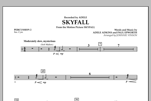 Skyfall - Percussion 2 (Concert Band: Flex-Band)